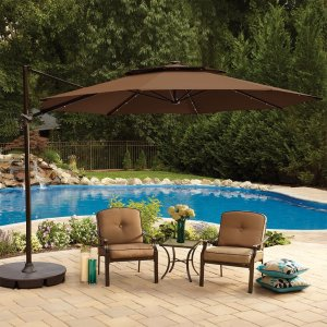 cantilever umbrella outdoors